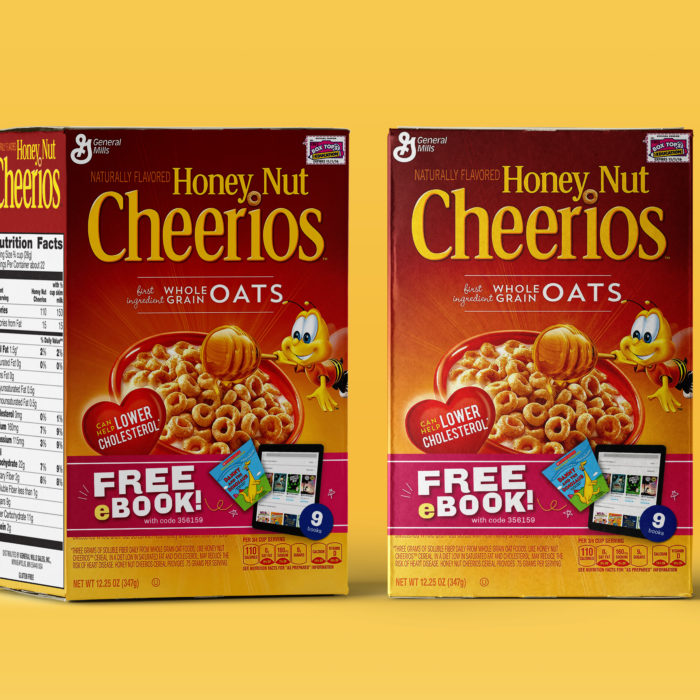 8.4 Million eBooks on Cheerios Boxes